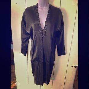 Rozae Nichols black silk dress